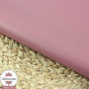Simili cuir fin framboise/fushia - coupon 50 x 70 cm