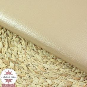 Simili cuir fin bois de rose - coupon 50 x 70 cm