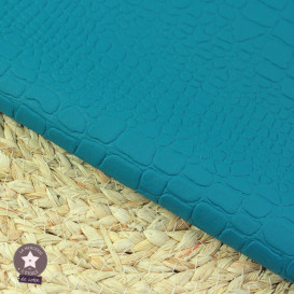 Simili cuir Croco marine - coupon 50 x 70 cm