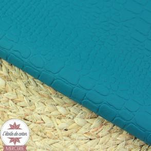 Simili cuir Croco - marine