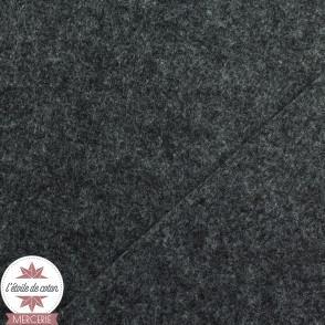 Feutrine épaisse - gris anthracite chiné