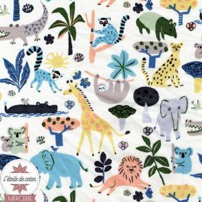 Tissu japonais Kokka - Safari - toile canvas