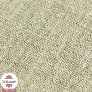 Tissu lin pailleté or