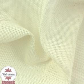 Tissu alimentaire Célimène - étamine de coton - écru