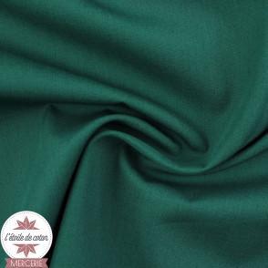 Popeline de coton - vert émeraude (Oeko-Tex)