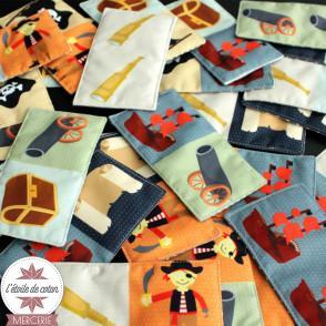 Kit à coudre - DOMINO Pirates + pochette