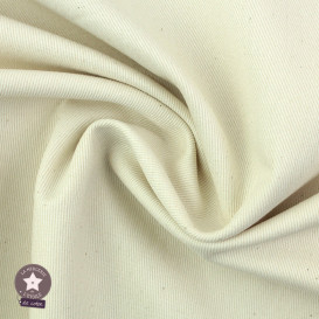 Tissu gabardine coton bio - naturel