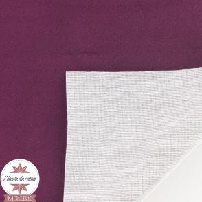 Tissu velours ras accessoire/ameublement - noir