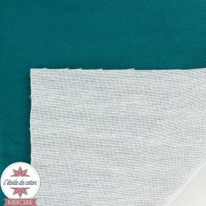 Tissu velours ras accessoire/ameublement - vieux rose