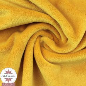 Minky pois jaune moutarde - Oeko-Tex