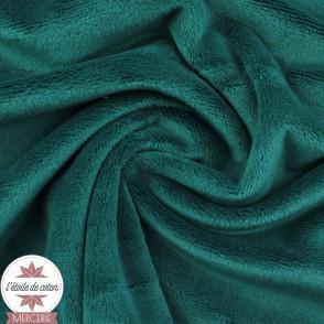 Tissu velours minky ras moutarde - Oeko-Tex