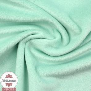 Tissu velours minky ras lagon - Oeko-Tex