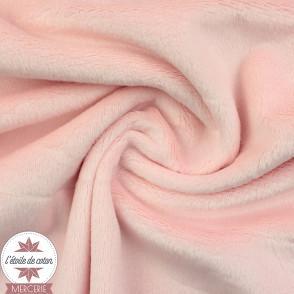 Tissu velours minky ras céladon - Oeko-Tex