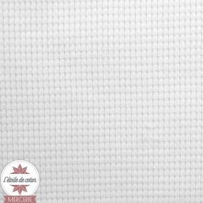 Tissu maille nid d'abeille noir (Oeko-Tex)