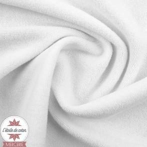 Tissu jersey éponge gris chiné - Oeko-Tex