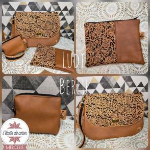 Simili cuir effet vieilli marron fauve - coupon 50 x 70 cm