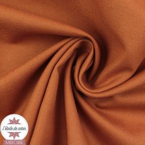 Tissu toile de coton canvas - rouille