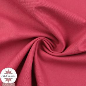 Tissu toile de coton canvas - rose blush