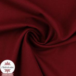Tissu toile de coton canvas - framboise