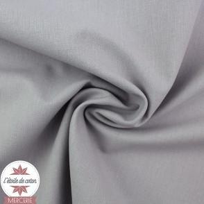 Tissu coton gris souris - Oeko-Tex