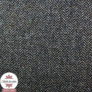 Tissu lainage chiné beige/bleu/camel