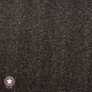 Tissu lainage chevron marron/taupe