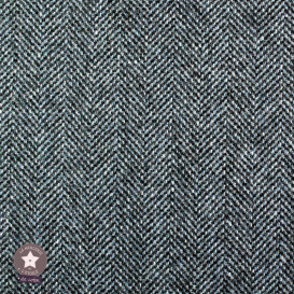 Tissu lainage chevron noir