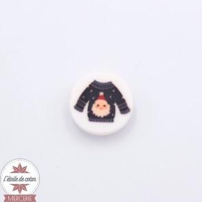 Bouton pull de Noël (Père Noël) - 18 mm