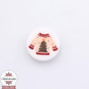 Bouton pull de Noël (sapin) - 18 mm
