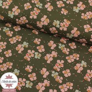 Tissu viscose Kamini bronze/rose thé - Oeko-Tex
