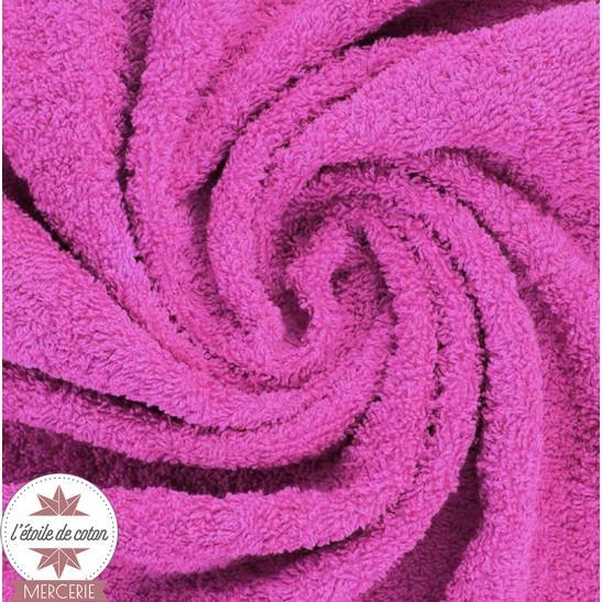 Tissu éponge indémaillable rose fushia