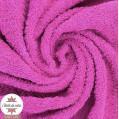 Tissu éponge rose fushia