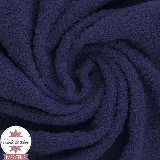 Tissu éponge indémaillable bleu marine