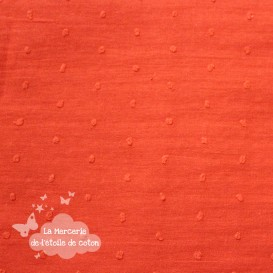Plumetis orange/corail
