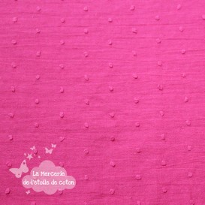 Plumetis rose fushia