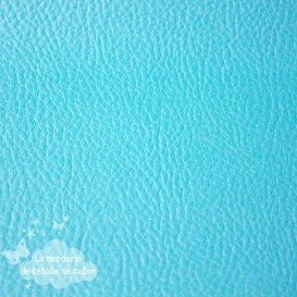 Coupon 50 x 70 cm - simili cuir fin turquoise