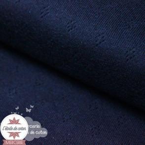 Jersey maille ajourée bleu marine