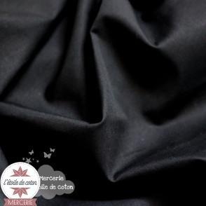 Popeline de coton - noir (Oeko-Tex)