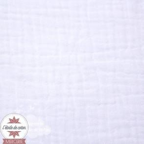 Double gaze blanc