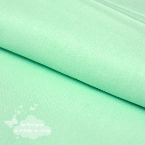 Tissu coton vert menthe