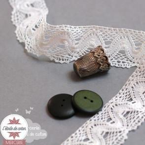 Bouton vert contour noir
