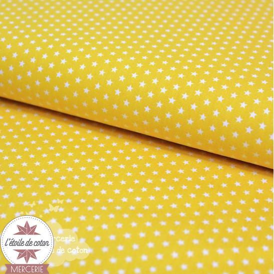 Mini étoiles jaune - Oeko-Tex